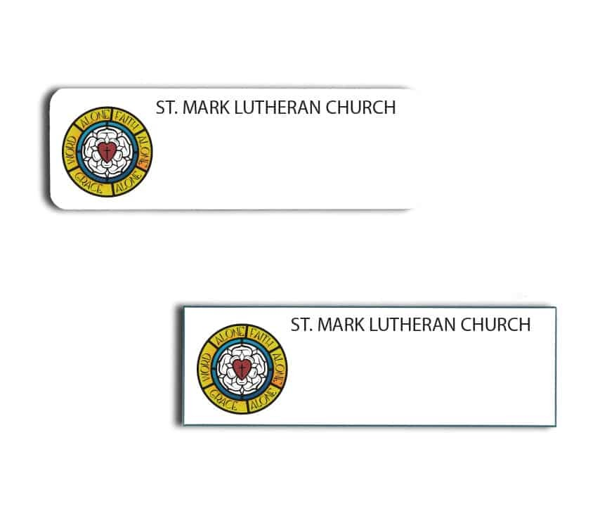 St. Mark Lutheran Church name badges