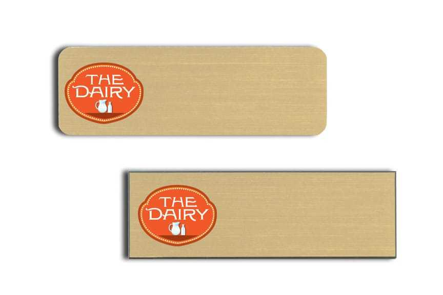 The Dairy Cafe name badges