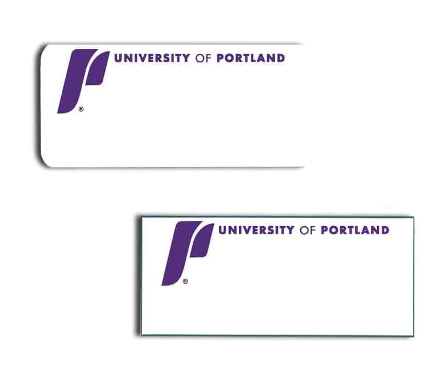 University of Portland name badges