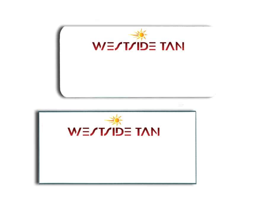 Westside Tan Name Badges