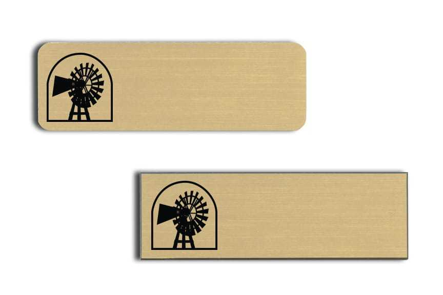 Windmill Suites name badges