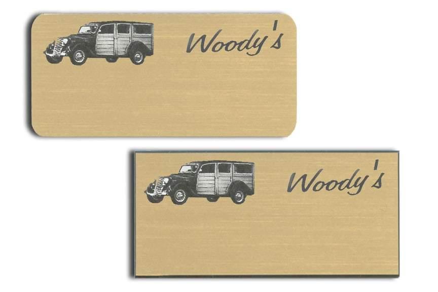 Woody's name badges