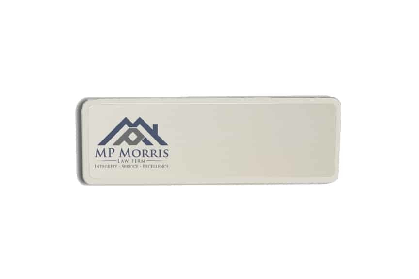 MP Morris Law Firm Name Badges