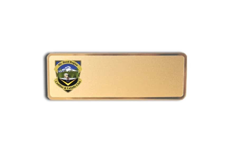 Mt.Hood Cadillac Car Club Name Badges