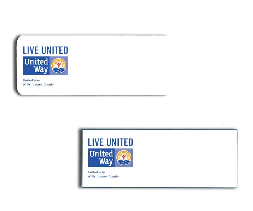 United Way Name Badges