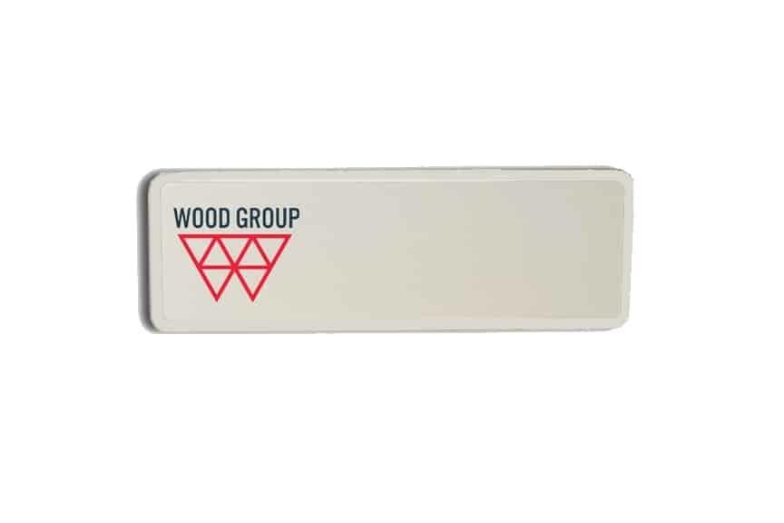 Wood Group Name Badges