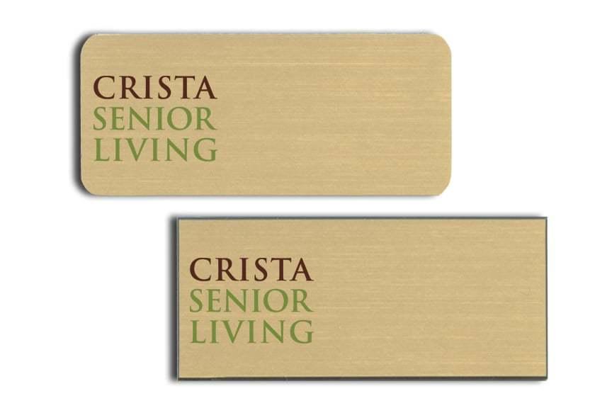 Crista Senior Living Name Badges