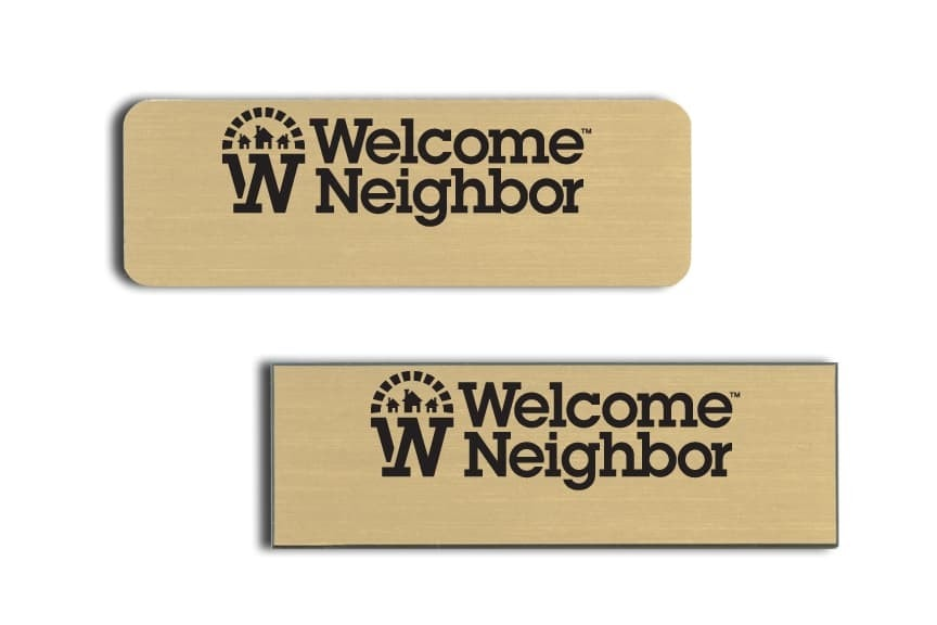 Welcome Neighbor Name Badges