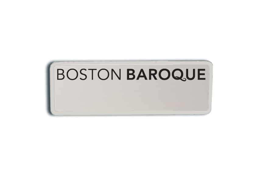 Boston Baroque Name Badges