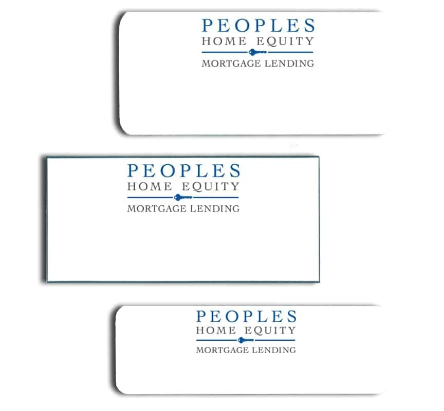 Peoples Home Equity Name Badges