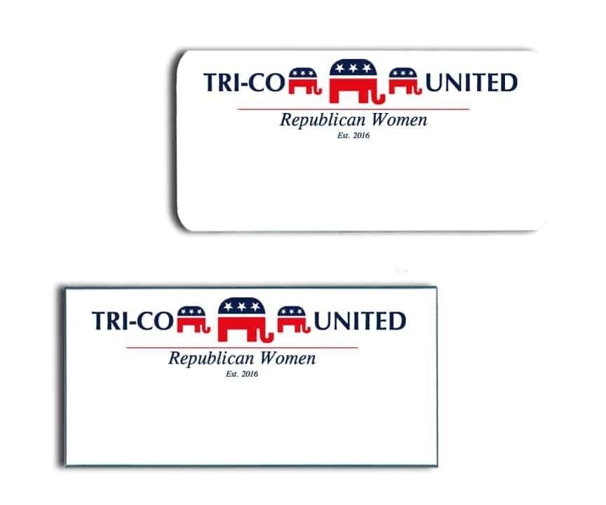 Tri-Co United Republican Women Name Badges