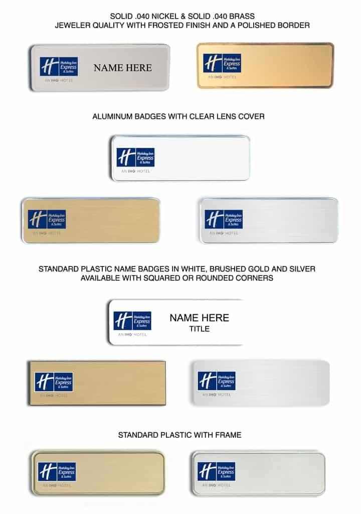 Holiday Inn Express and Suites Name Badges