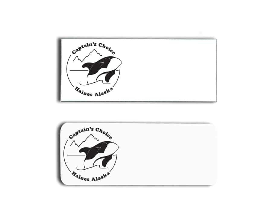 captains choice motel name badges tags
