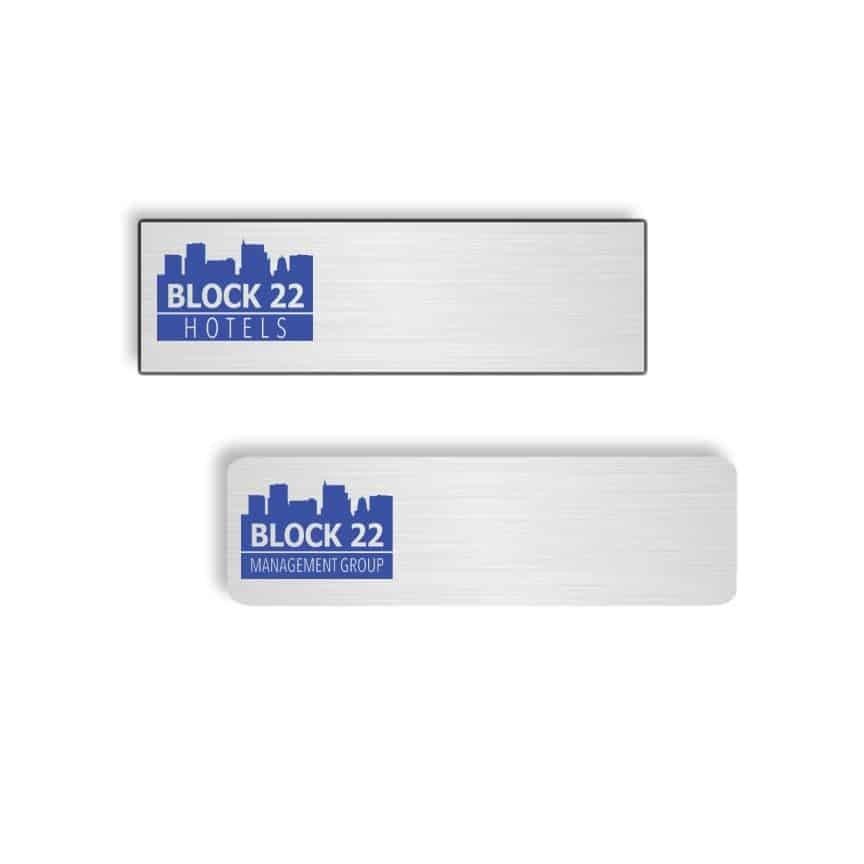Block 22 Hotels Name Badges
