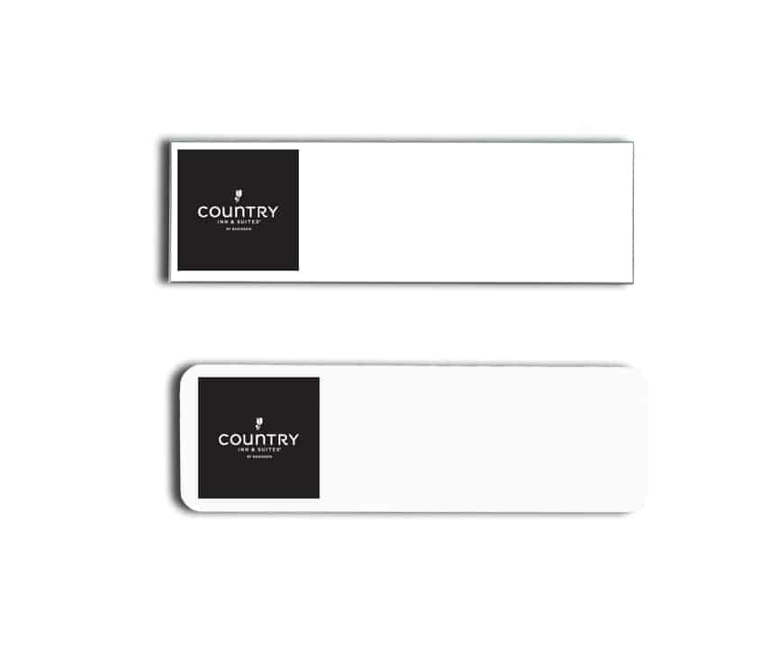 Country Inn and Suites name badges