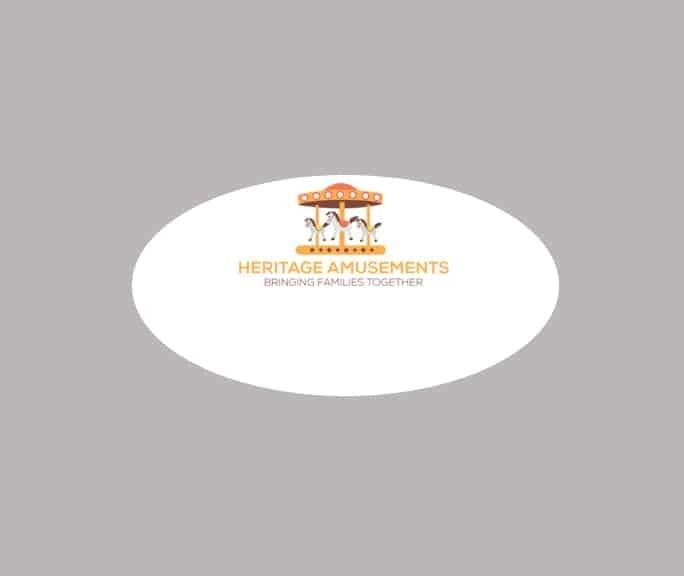 Heritage Amusements name badges