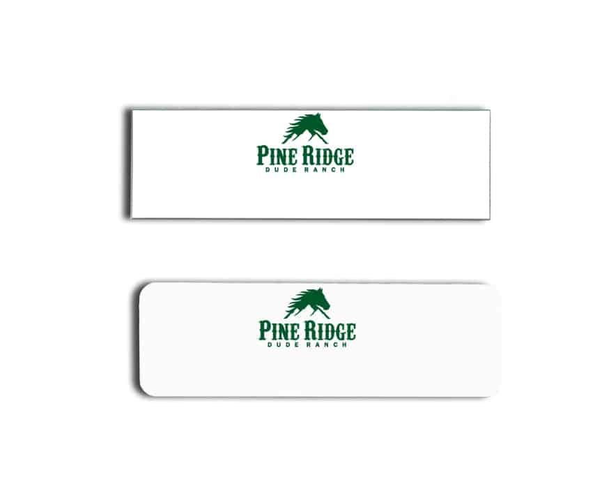 Pine Ridge Dude Ranch Name Badges
