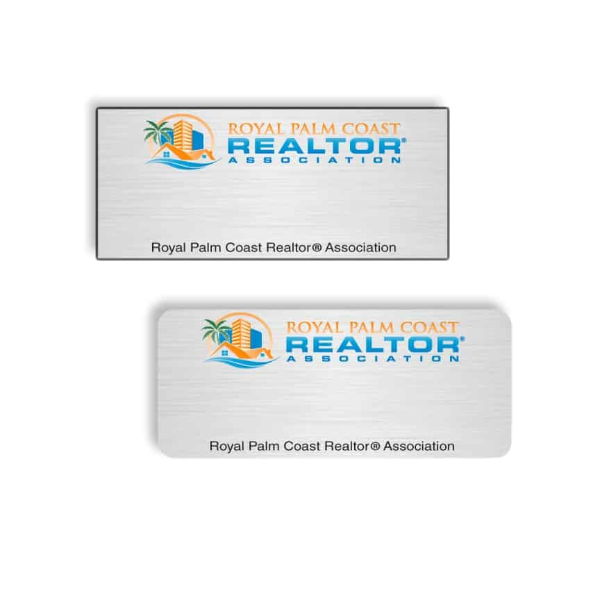 Royal Palm Coast Realtor name badges