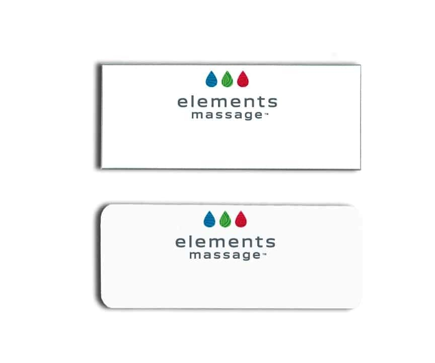 elements massage name badges