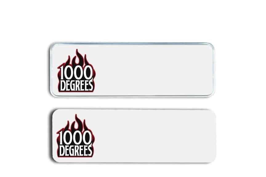 1000 degrees name badges