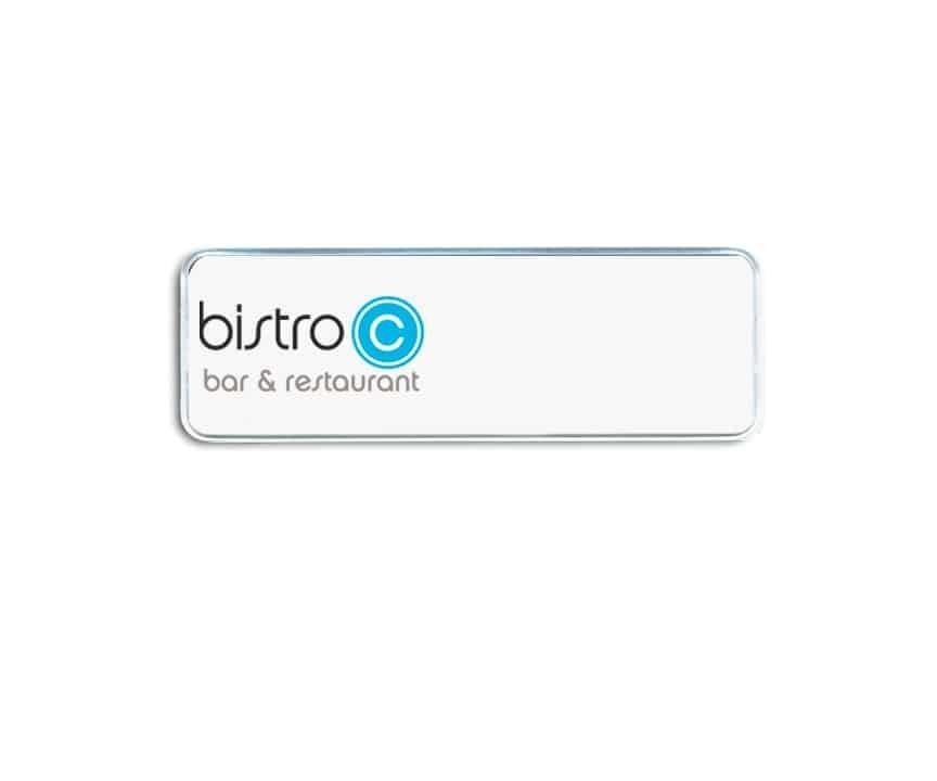 Bistro bar and restaurant name badges