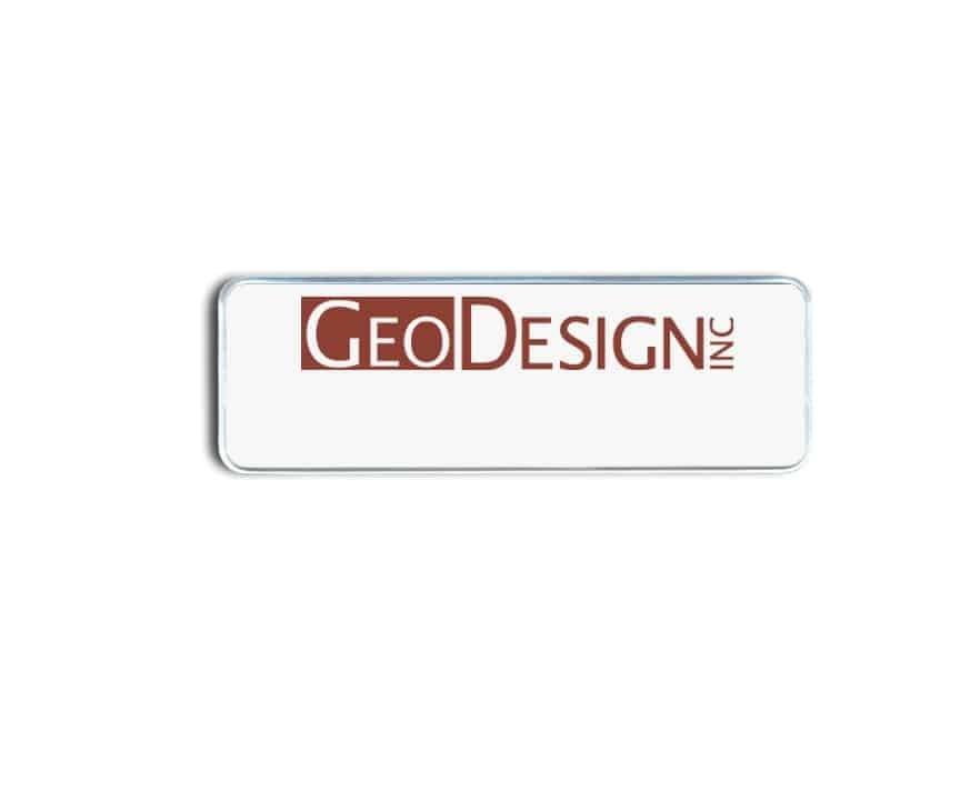 Geo design name badges