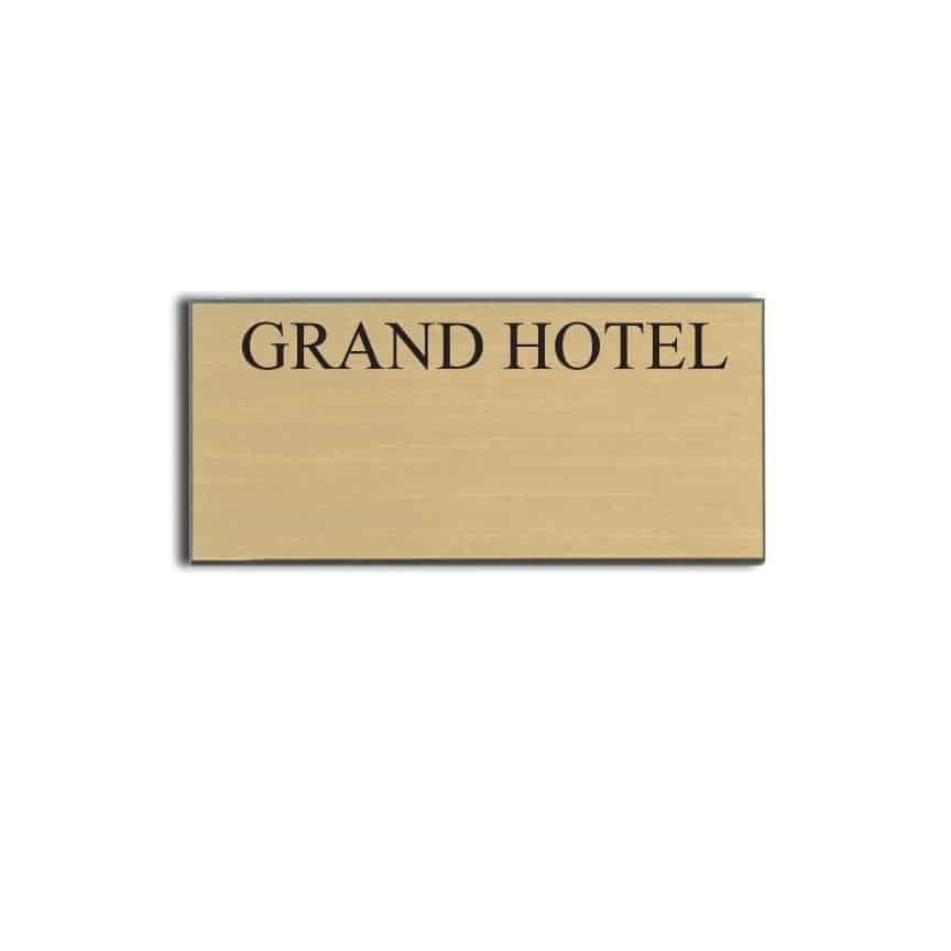 Grand Hotel name badges