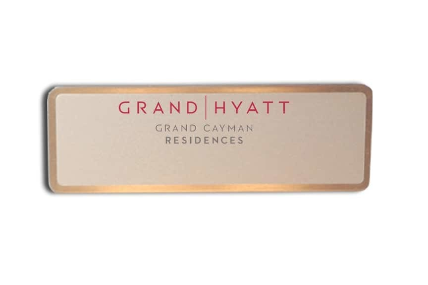 Grand hyatt name badges