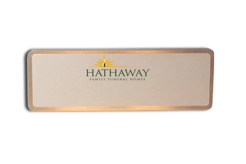 Hathaway Funeral homes name badges