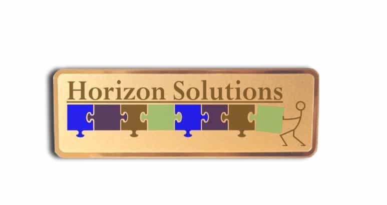 Horizon Solutions name badges