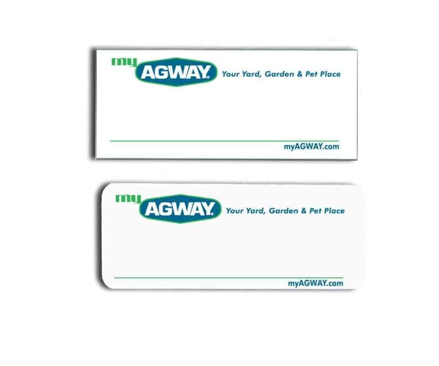 My Agway name badges