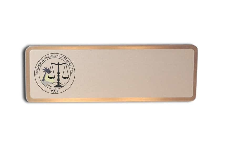 Paralegal Association of Florida name badges
