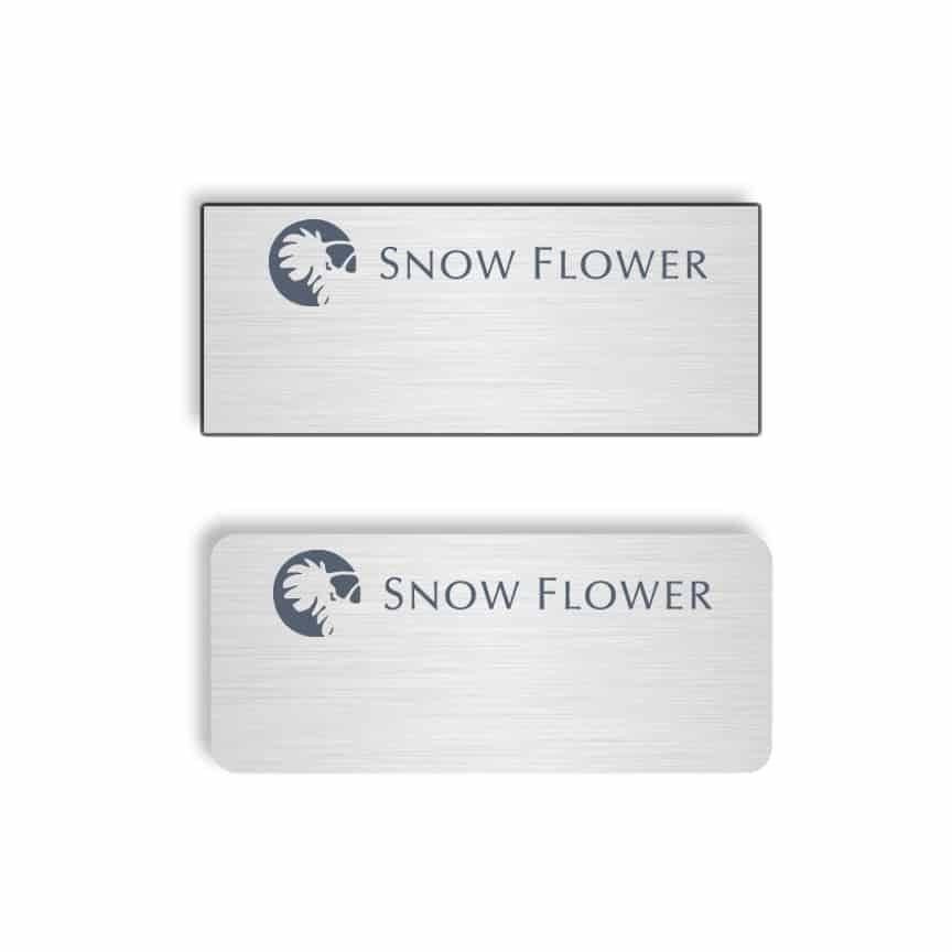 Snow Flower name badges