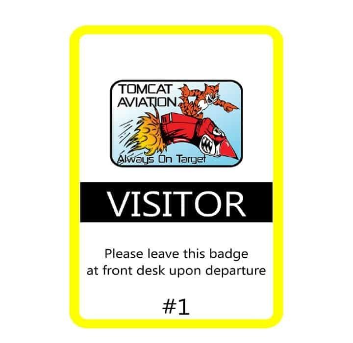 Tomcat Aviation name badges