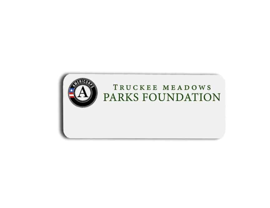 Truckee Meadows Parks Foundation name badges