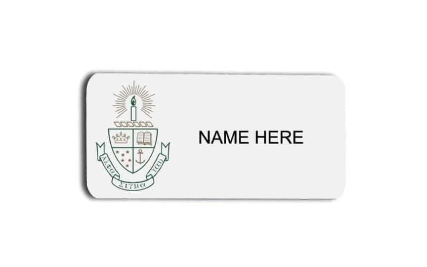 Alpha Sigma Tau name badges