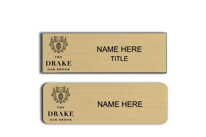 Drake Oak Brook name badges