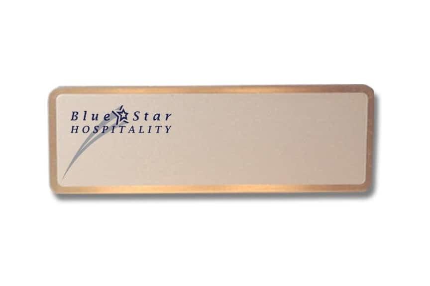 blue star hospitality name badges