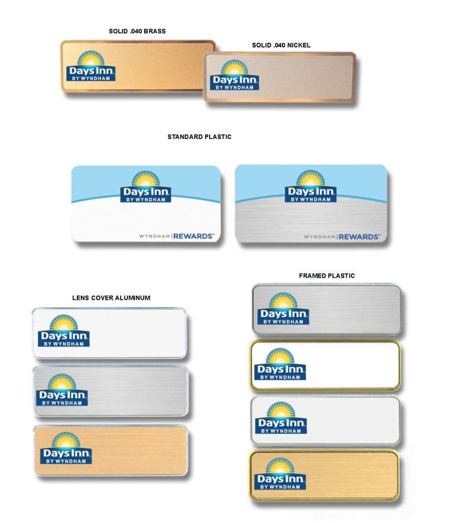 days inn name badges