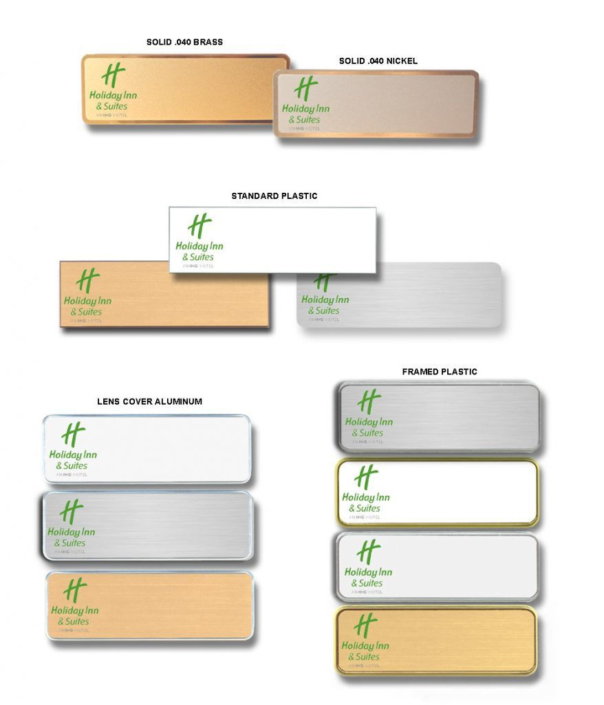 holiday inn and suites name badges tags