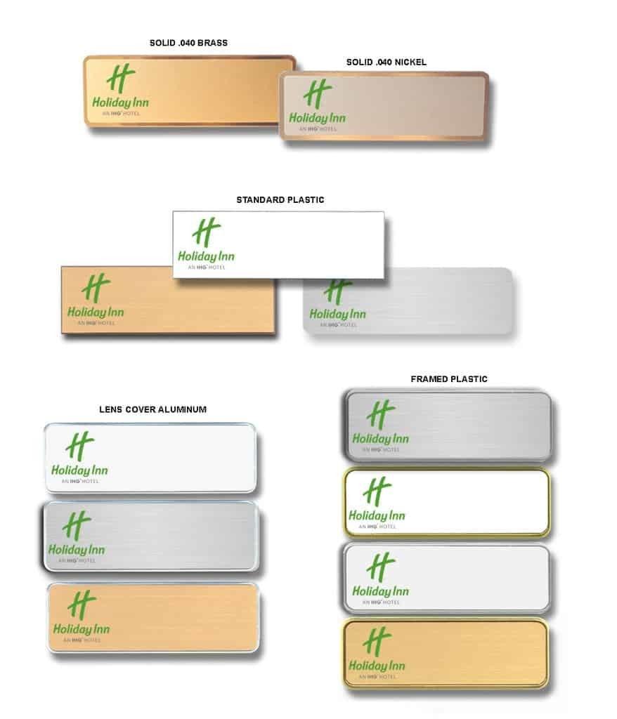 holiday inn name badges