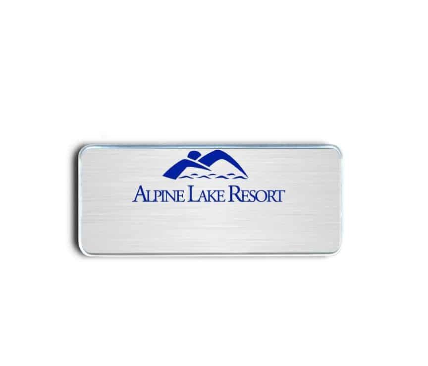 Alpine Lake Resort name badges tags