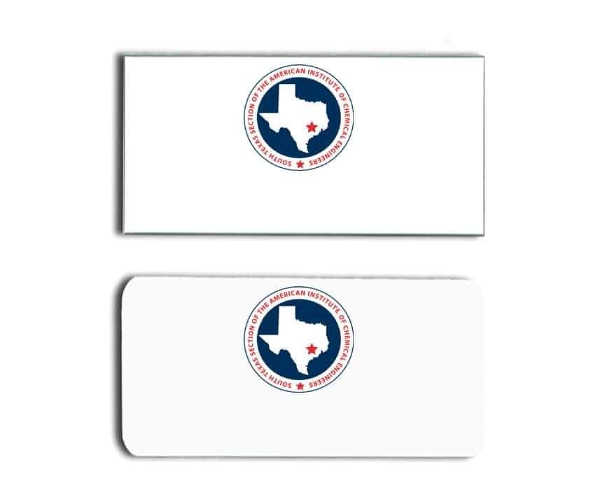South Texas AICE name badges tags