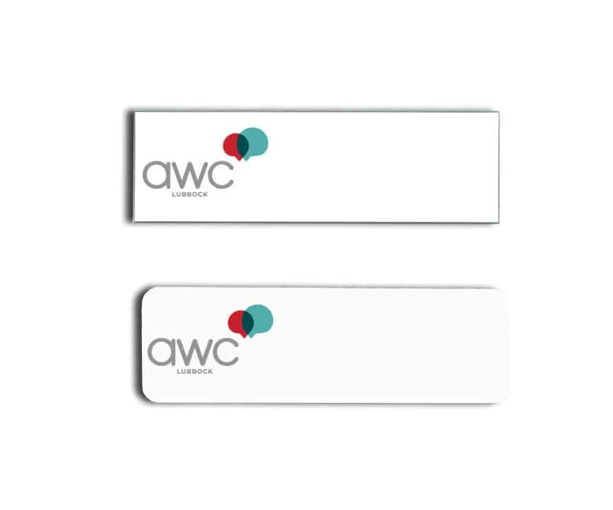 AWC Lubbock name badges tags