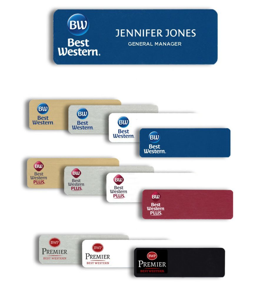 Best Western Plus Name Badges Tags