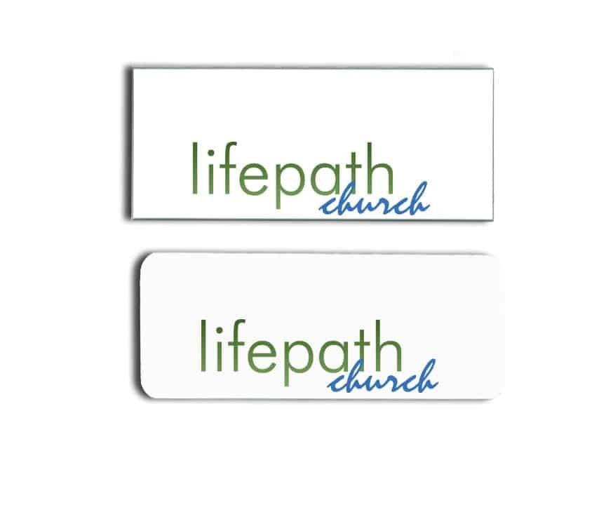 Lifepath Church name badges tags