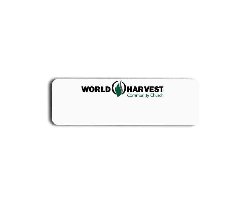 World Harvest Community Church name badges tags