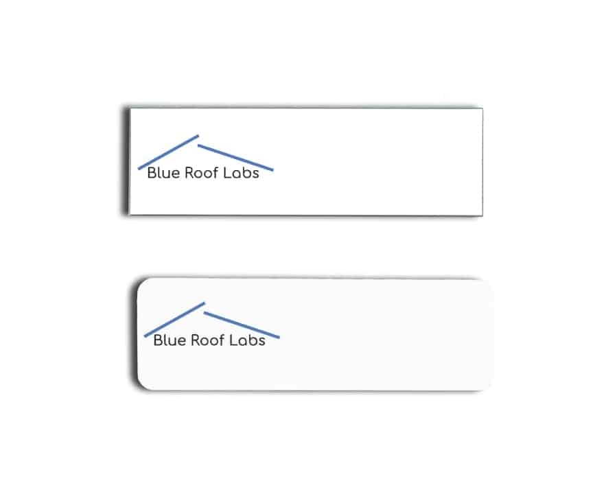Blue Roof Labs name badges tags