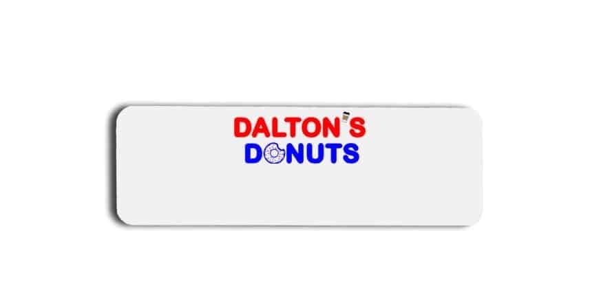 Daltons Donuts name badges tags