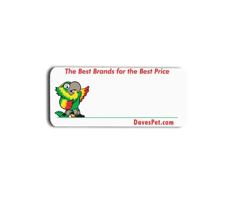 Daves pet name badges tags